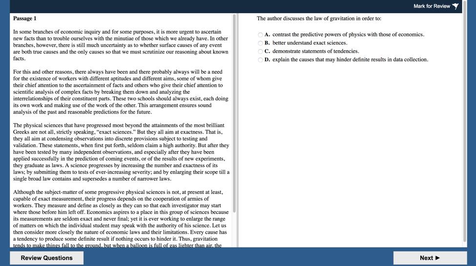 Example pcat essay questions